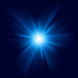 Blue color design with a burst. EPS 8 Royalty Free Stock Photos