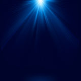 Blue color design with a burst. EPS 8 Royalty Free Stock Images