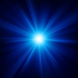 Blue color design with a burst. EPS 10 Stock Photography