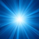 Blue color design with a burst. EPS 10 Royalty Free Stock Image