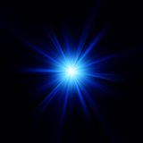 Blue color design with a burst. EPS 10 Royalty Free Stock Photos