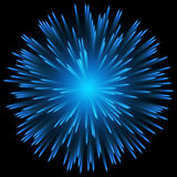 Blue color design with a burst. Royalty Free Stock Photos