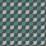 Blue color diagonal fish scale wallpaper. Asian traditional ornament with repeated scallops. Japanese seamless pattern. Blue color diagonal fish scale wallpaper Royalty Free Stock Images