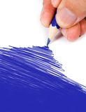 Blue color drawing Royalty Free Stock Photo