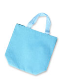 Blue color fabric bag Stock Photos