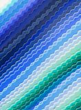 Blue color fabric samples for sewing Royalty Free Stock Photo