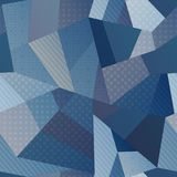 Blue color fabric seamless pattern royalty free illustration