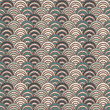 Blue color fish scale wallpaper. Asian traditional ornament with repeated scallops. Seamless pattern with semicircles Royalty Free Stock Photos