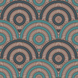 Blue color fish scale wallpaper. Asian traditional ornament with repeated scallops. Seamless pattern with semicircles. Blue color fish scale wallpaper. Asian Stock Photo