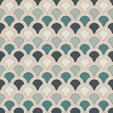 Blue color fish scale wallpaper. Asian traditional ornament with repeated scallops. Seamless pattern with semicircles. Blue color fish scale wallpaper. Asian Stock Photos