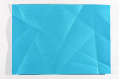 Blue color folded paper  Royalty Free Stock Image