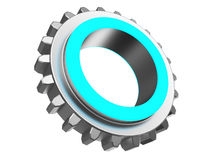 Blue color gear wheel Stock Images