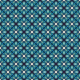 Blue color geometric vector seamless pattern Royalty Free Stock Photo