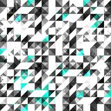 Blue color grunge triangle seamless pattern Stock Photo