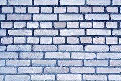 Blue color grungy brick wall pattern. Royalty Free Stock Image