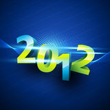 Blue color happy new year Royalty Free Stock Images