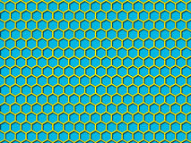 Blue color Honeycomb Pattern Background Stock Image