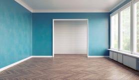 Blue color interior royalty free illustration