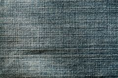 Blue color jeans cloth pattern. Stock Photography