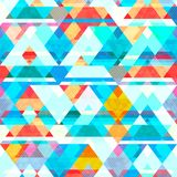 Blue color mosaic seamless pattern Royalty Free Stock Image