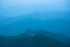 Blue color of mountains Royalty Free Stock Photos