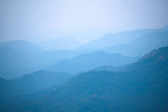 Blue color of mountains Royalty Free Stock Image