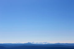 Blue color of mountains at dawn , Russia, Siberia Royalty Free Stock Photo