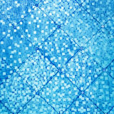 Blue color oriental antique style tiles wall royalty free stock photography