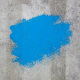 Blue Color Painted on Cement Wall with Copy Space for Yours Desi. Gn extreme closeup Stock Image