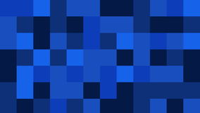 Blue color palette squares filling white screen stock footage