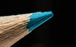 Blue color penci. Close up blue color pencil for drawing Stock Images