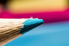 Blue color penci. Close up blue color pencil for drawing Royalty Free Stock Image