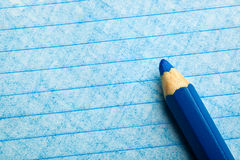 Blue color pencil with coloring Royalty Free Stock Photography