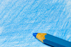 Blue color pencil with coloring Stock Photo