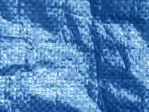 blue color plastic bag surface with blur effect. Royalty Free Stock Image