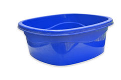 Blue color Plastic bowl Royalty Free Stock Photos