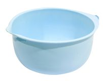 Blue color Plastic bowl Royalty Free Stock Images