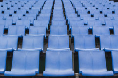Blue color plastic stadium seating Stock Image