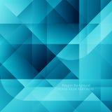Blue color polygonal shape background Stock Photo