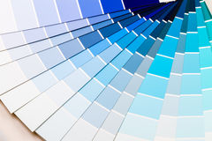 Blue color range Royalty Free Stock Photo