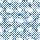 Blue color seamless pattern with rhombuses, abstract design geometrical vector background. Simple modern stylish texture Stock Photo