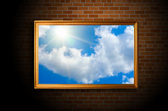 Blue color sky picture Royalty Free Stock Image
