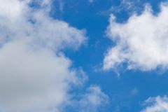 Blue sky with white cloud background. Blue color sky with white cloud background royalty free stock photography