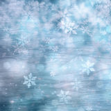 Blue color snow background with snowfall Stock Photography