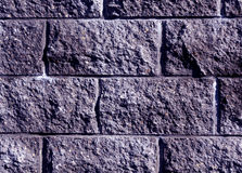 Blue color stylized brick wall pattern. Royalty Free Stock Photos