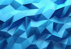 Blue color triangle geometrical background Stock Image