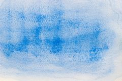 Blue watercolor on paper painted background texture. Blue color watercolor on paper painted background texture stock illustration