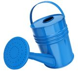 Blue Color Watering Pot Inclined Forward Stock Images