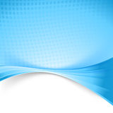Blue color wave dotted background template Stock Image