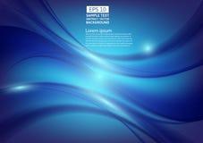 Blue color waves abstract background design. vector illustration.  stock illustration